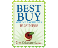BS Business: Best Buy Award – GetEducated.com badge