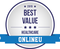 College of Health Sciences-2015 Best Value Healthcare – OnlineU badge