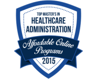 2015 Top Masters in Healthcare – Most Affordable Online Programs badge