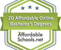 Trident's BSHRM degree was ranked at #11 on AffordableSchools.com's badge