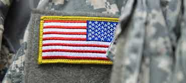 Military Uniform with American Flag