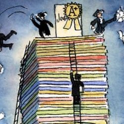 person-climbing-books