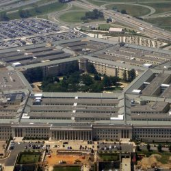 Aerial view of the Pentagon, Arlington, VA