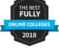 Best Fully Online Colleges in 2018 badge