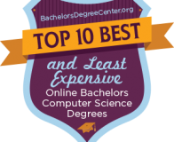 Top 10 Best and Least Expensive Online Bachelors Computer Science Degrees badge
