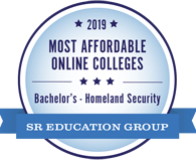 2019 Most Affordable Homeland Security Degrees Online badge