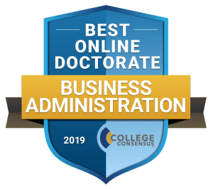 #1 Best Online Doctorate in Business Administration Programs 2019 badge