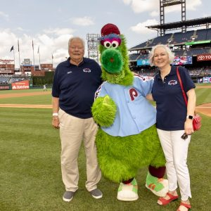 Paul H. Amundsen  on the field at Citizens Bank Park